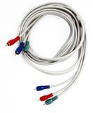 голубой красный цвет зеленого цвета компонента кабелей Стоковое фото RF