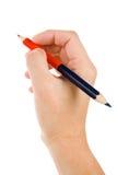 голубой красный цвет карандаша Стоковые Изображения