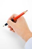 голубой красный цвет карандаша Стоковое Изображение RF