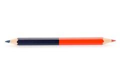 голубой красный цвет карандаша Стоковые Фото
