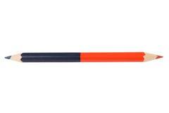 голубой красный цвет карандаша Стоковая Фотография