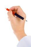 голубой красный цвет карандаша Стоковые Фотографии RF