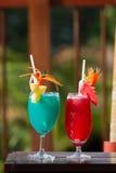 голубой красный цвет коктеила Стоковые Фото