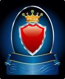 голубой красный цвет медальона иллюстрация вектора