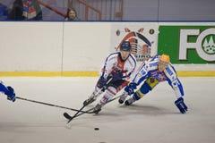 голубой красный цвет милана хоккея клуба стоковое фото