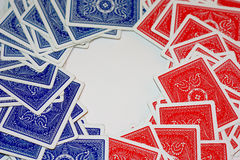 голубой красный цвет палубы Стоковое Изображение RF
