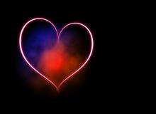 голубой красный цвет сердца Стоковые Фото