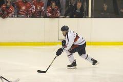голубой красный цвет milano хоккея стоковое фото