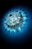 голубой кристаллический блеск Стоковое фото RF