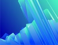 голубой кристалл иллюстрация вектора