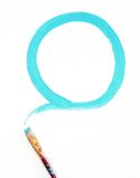 голубой круг Стоковое Изображение