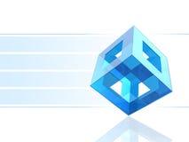 голубой кубик бесплатная иллюстрация