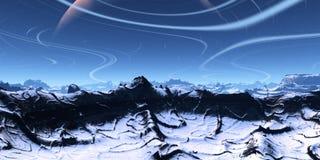 голубой ландшафт Стоковое Изображение