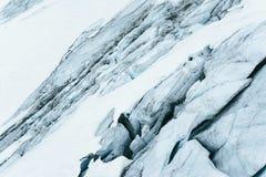 Голубой ледник как предпосылка конец вверх Стоковые Фото