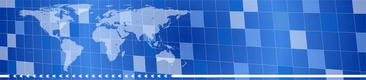 голубой логистический логос Стоковое фото RF