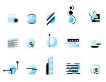 голубой логос собрания Стоковое Изображение RF