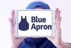 Голубой логотип обслуживания набора еды рисбермы Стоковое Фото