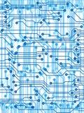 голубой луч напечатанный pcb x Стоковое Фото