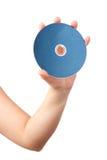 голубой луч удерживания руки диска стоковые фотографии rf