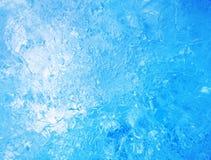 голубой льдед абстрактная текстура льда Стоковое Изображение RF
