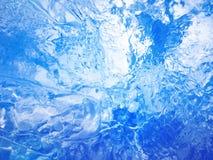 голубой льдед абстрактная текстура льда Стоковые Фотографии RF
