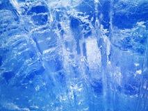 голубой льдед абстрактная текстура льда Стоковое Изображение