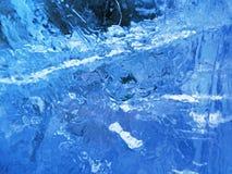 голубой льдед абстрактная текстура льда Стоковые Фото