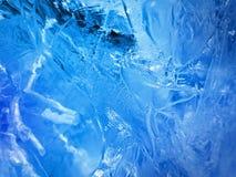 голубой льдед абстрактная текстура льда Стоковое фото RF