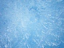 голубой льдед абстрактная текстура льда Стоковая Фотография RF