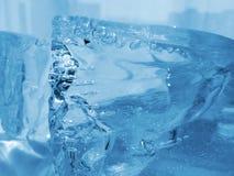 голубой льдед естественный Стоковые Изображения