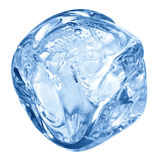 голубой льдед кубика Стоковая Фотография