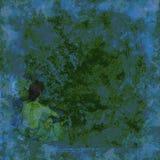 голубой мечт зеленый цвет иллюстрация штока