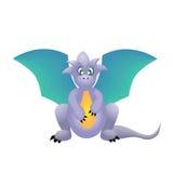голубой милый дракон стоковое изображение rf