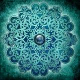 голубой мир мандала Стоковая Фотография
