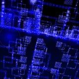 голубой мир матрицы Стоковые Фотографии RF