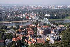 Голубой мост Дрезден Стоковая Фотография RF