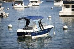 голубой мотор шлюпки Стоковые Фото