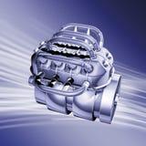 голубой мотор Стоковое Изображение