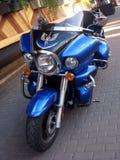 Голубой мотоцикл, вид спереди Стоковое Изображение RF
