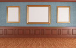 голубой музей Стоковое Изображение RF