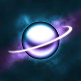 голубой накаляя пурпур планеты Стоковое фото RF