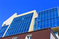 Голубой небоскреб Стоковые Изображения