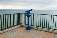 голубой общественный телескоп Стоковое Изображение