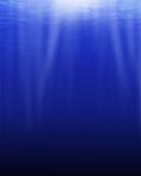 Голубой океан снизу Стоковые Изображения