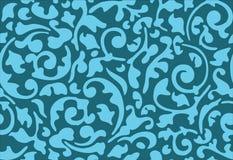 голубой орнамент цветка безшовный Стоковая Фотография RF