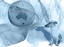 голубой отнесенный интернет конструкции Стоковая Фотография RF