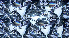 Голубой отснятый видеоматериал рассеивания диаманта Предпосылка самоцвета причудливого диаманта цвета кристаллическая Стоковые Фото