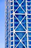 голубой офис здания Стоковое фото RF