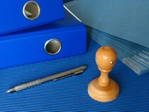 голубой офис Стоковое Фото