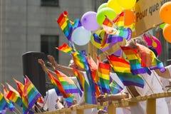 Голубой парад гордости стоковое изображение